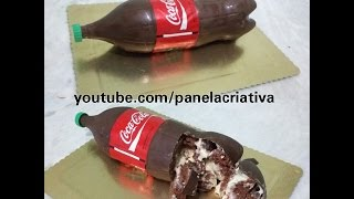Bolo garrafa de Coca-Cola, bolo bombom. Como fazer