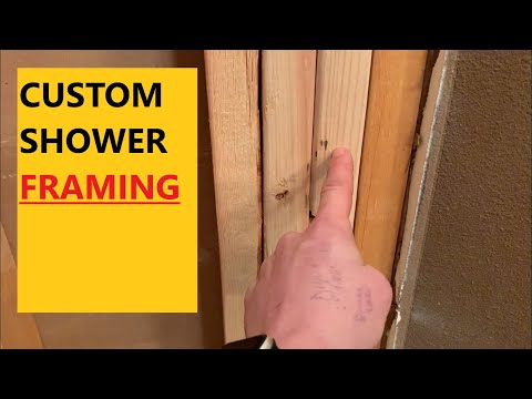 FRAMING  CUSTOM SHOWER - House Flipping Renovation