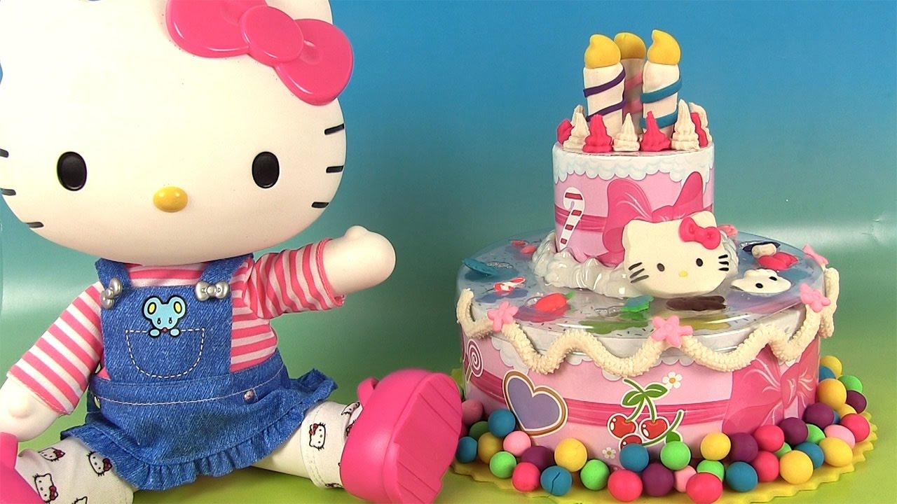 Play Doh Hello Kitty Birthday Party G 226 Teau D Anniversaire