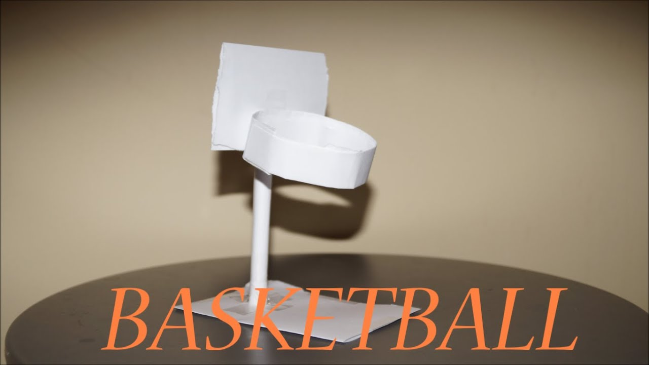 How to make a paper basketball hoop using a4 paper youtube for How to build a basketball goal