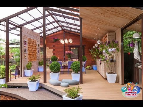 Terraces and verandas in country houses. Original design ideas.