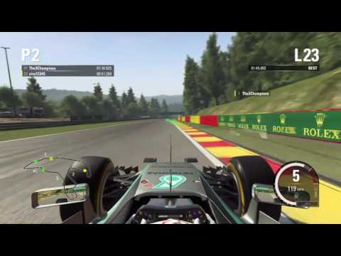 F1 2015 my best time trial at Belgium, 1.45.001
