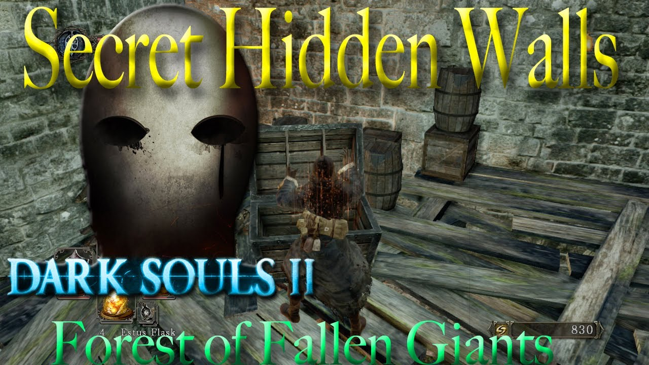 Dark Souls 2 Forest of Fallen Giants Hidden Walls Secrets