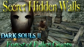 Dark Souls 2 - Forest of Fallen Giants - Hidden Walls & Secrets