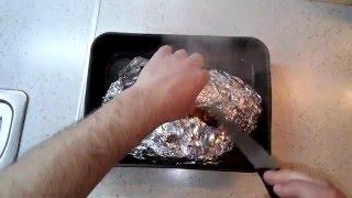 Очень  сочная свинина в фольге в духовке