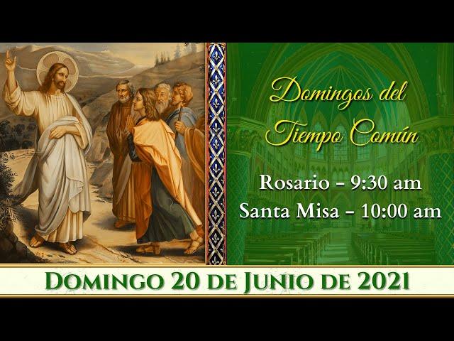 ⛪ Rosario y Santa Misa ⚜️ Domingo 20 de Junio 9:30 AM  POR TUS INTENCIONES| Caballeros de la Virgen