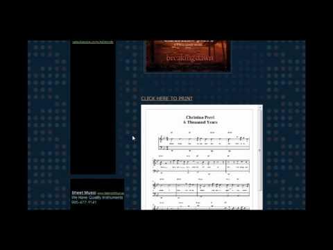 Christina Perri  A Thousand Years Free Piano Sheet Music