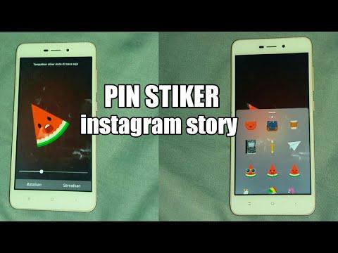 Cara Membuat Pinstiker Gerak Gerak Di Instagram Story Youtube