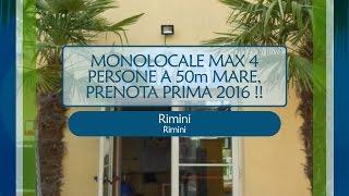 Rimini, MONOLOCALE MAX 4 PERSONE A 50m MARE, PRENOTA PRIMA 2016 !! - Rif 1579215