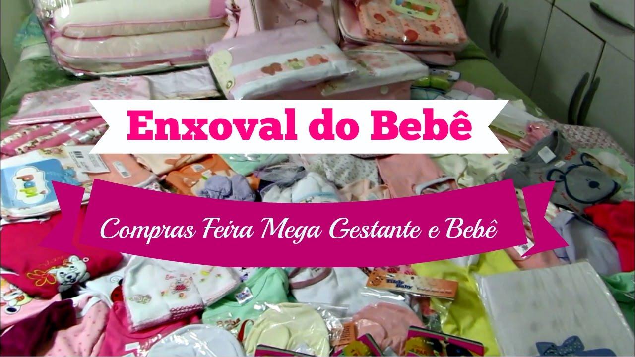 493913c7a5 Enxoval do Bebê - Compras na Feira Mega Gestante e Bebê - YouTube