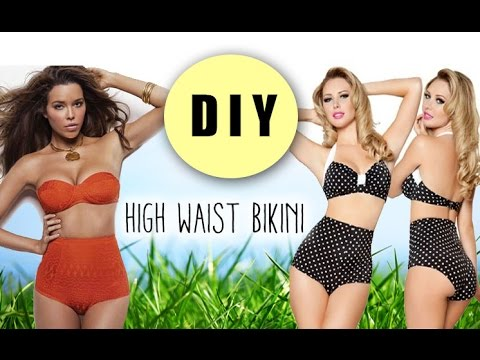 2fcd344b185e1 DIY High Waist Bikini Bottoms (pattern included) - YouTube