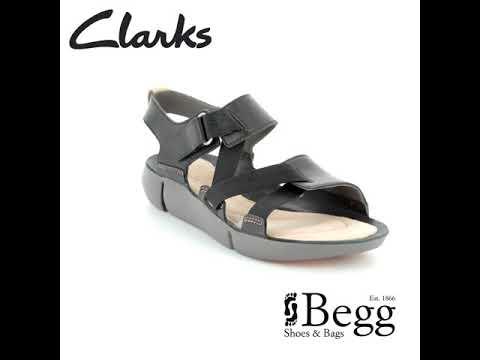 Clarks Tri Clover D Fit Black sandals