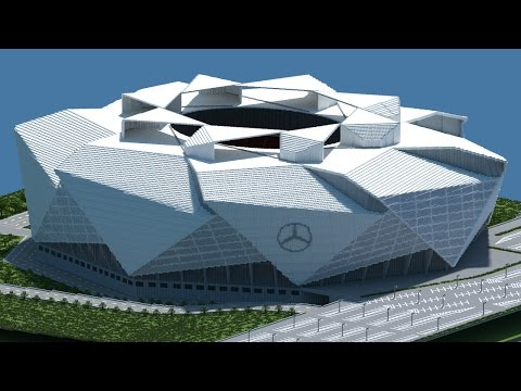 Minecraft - TIMELAPSE - Mercedes Benz Stadium (Atlanta Falcons New) [Official] + DOWNLOAD
