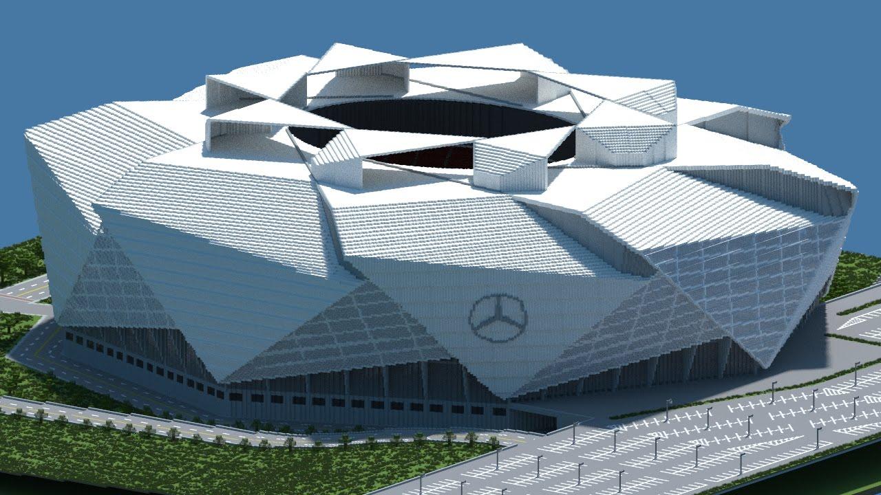 mercedes benz stadium minecraft. Minecraft - TIMELAPSE Mercedes Benz Stadium (Atlanta Falcons New) [Official] + DOWNLOAD N