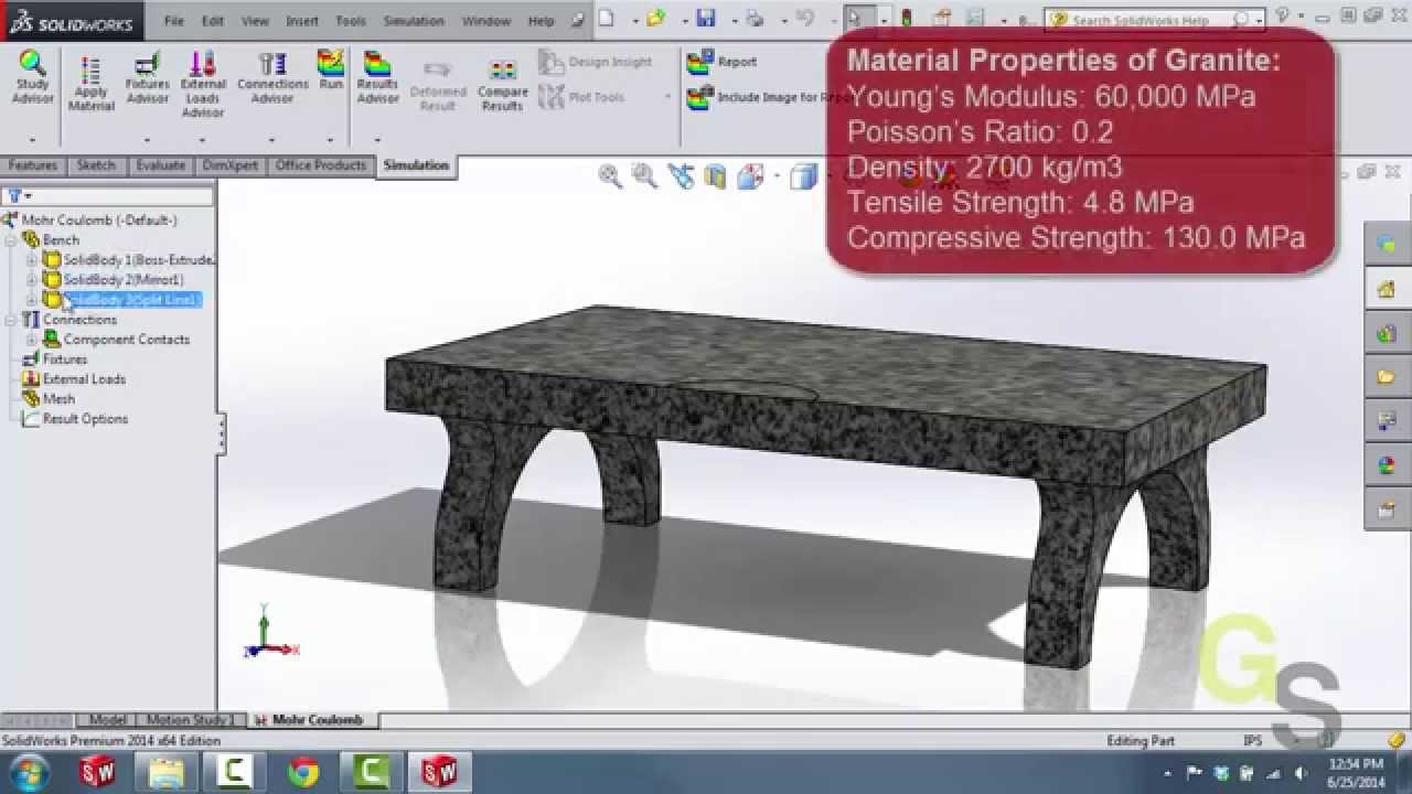 Mohr Coulomb Stress With SolidWorks Simulation