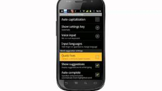 Changing keyboard settings on your Android phone