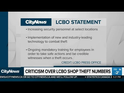 Criticism Over LCBO Shop Theft Numbers