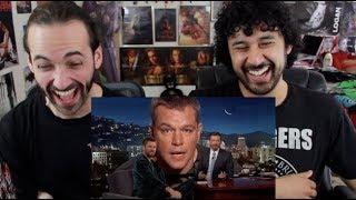 Matt Damon Ruins Chris Hemsworth Interview REACTION!!!