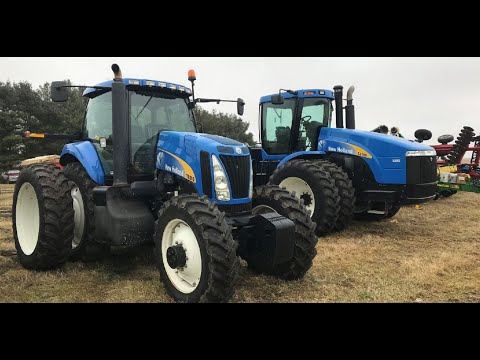 New Holland TJ380 And T8010 Tractors Sold Today On Illinois Farm Auction