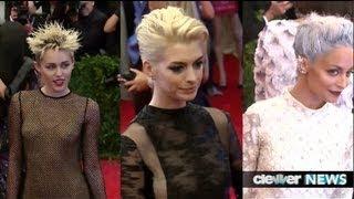 Miley Cyrus vs. Nicole Richie vs. Anne Hathaway -- Punk Hair at Met Ball 2013!