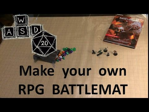 RPG battlemat solution: vinyl and gaming paper