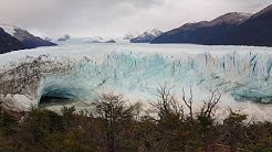 Perito Moreno live - huge ice block falls down!