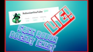 Robuxian is a Lie | Free Robux Is A Lie Part 1