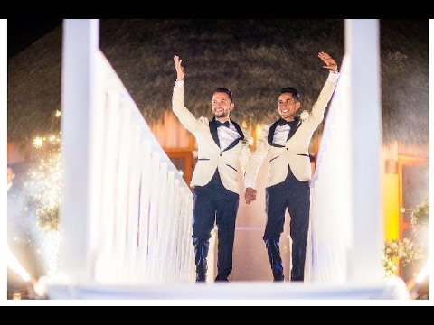Epic gay wedding.Laguna de Santa Maria del Oro, Nayarit, México. Fidel & Alejandro