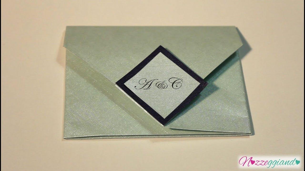 abbastanza Busta origami con chiusura quadrata _ Partecipazioni _ Tutorial  LF75