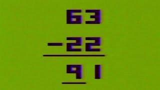 Basic Math Fun With Numbers Atari 2600 Gameplay