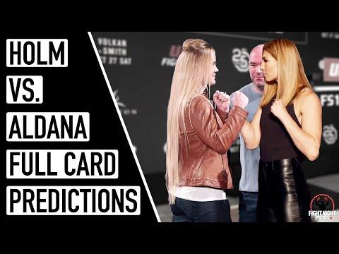 UFC Fight Night: Holm vs. Aldana Full Card Predictions