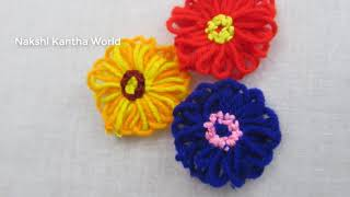 Hand Embroidery Amazing Trick# Easy Flower Embroidery Trick# Easy Sewing Hack