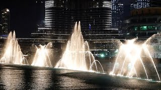 The Dubai Fountain - Time to say Goodbye 2017 (High Quality)