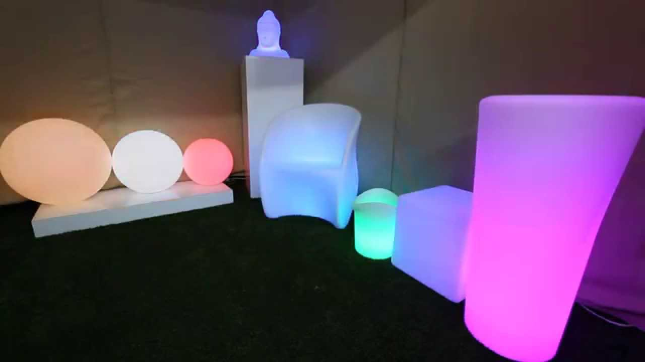 Led Color Changing Furniture Youtube