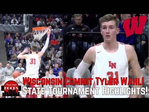 Tyler Wahl State Tournament Highlights! Wisconsin Commit Shows Off Complete Game