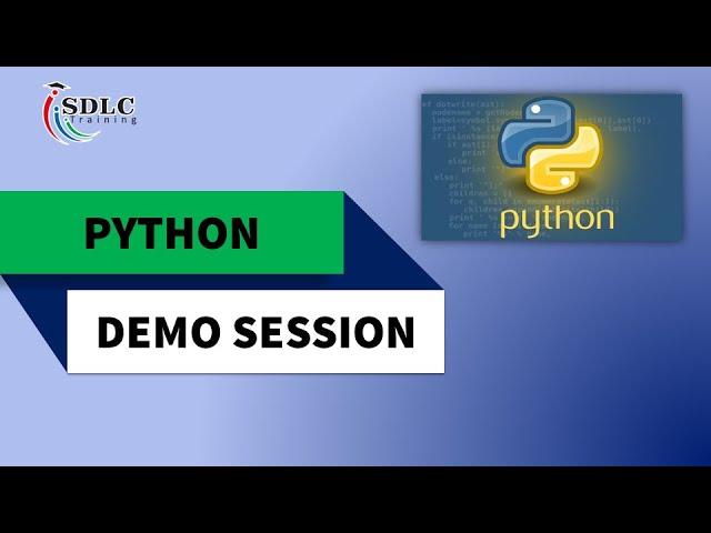 Learn Python Programming | Python Demo Video | SDLC Training