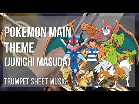 EASY Trumpet Sheet Music: How to play Pokemon Main Theme by Junichi Masuda
