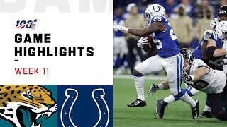 Jaguars vs. Colts Week 11 Highlights | NFL 2019