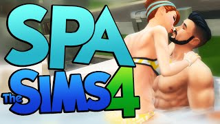 Sims 4 - WOOHOO IN A HOT TUB?!? Going To The SPA! - The Sims 4 Spa Update DLC