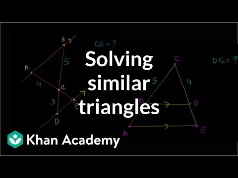 Similarity example problems | Similarity | Geometry | Khan Academy
