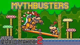 Does Bowser Weigh the Same as Bowser Jr? - Super Mario Maker 2 MYTHBUSTERS [#2]