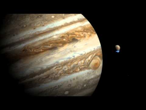 Jupiter Moon Europa's Water Plume Spied By Hubble - Artist Impression Video