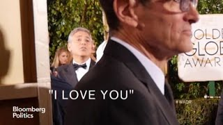 "George Clooney at the Golden Globes: ""I LOVE YOU!"""