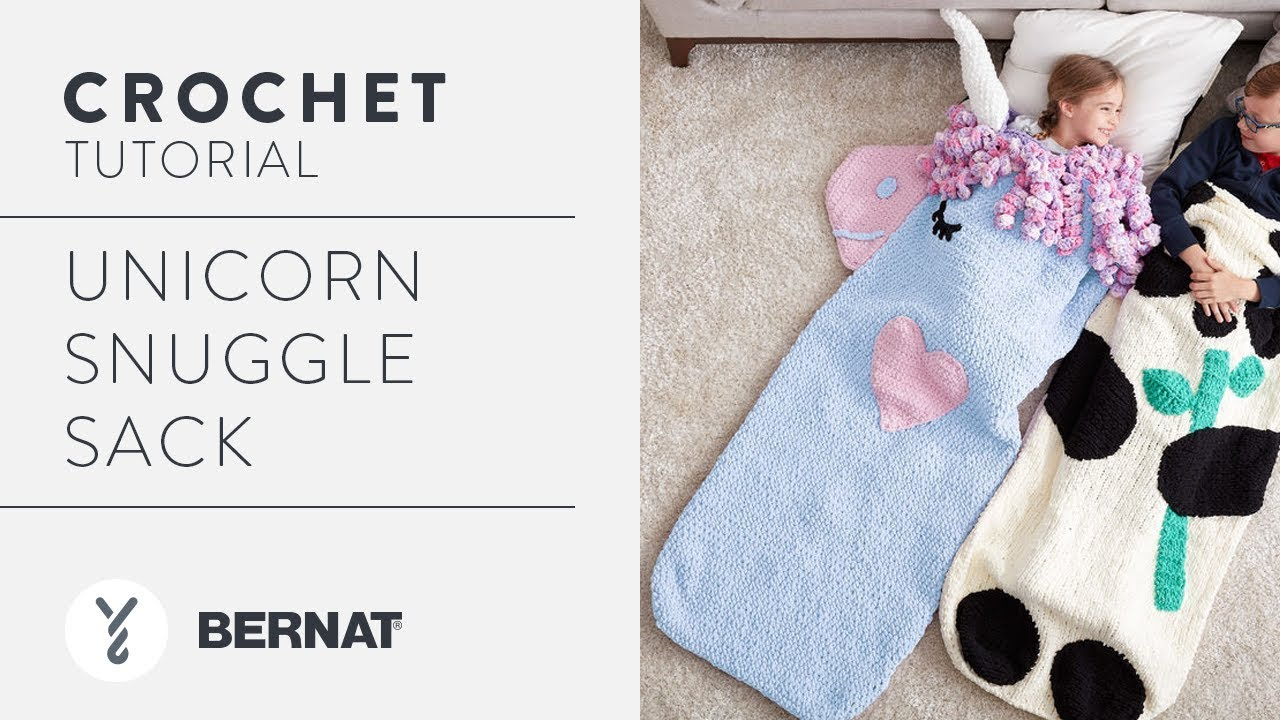 How to Crochet: Unicorn Snuggle Sack - YouTube