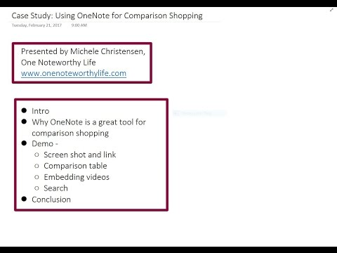 OneNote case study: Using OneNote for comparison shopping