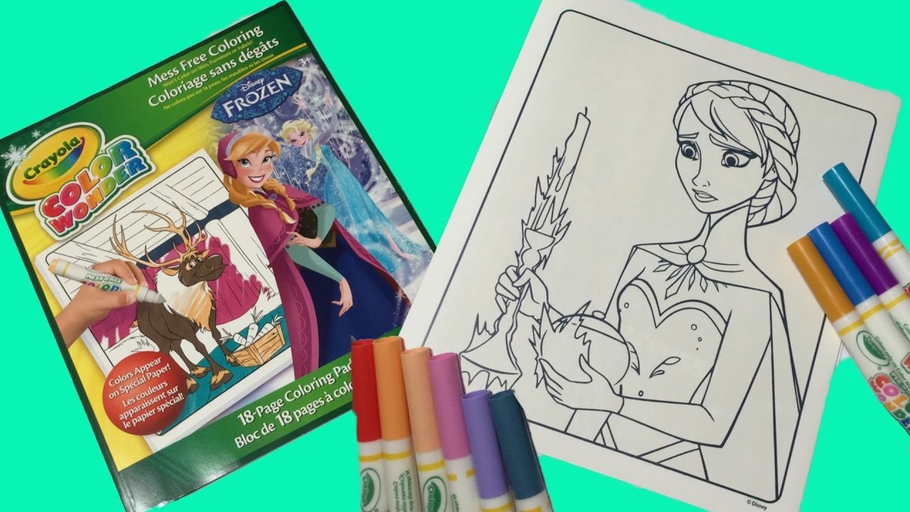 Crayola Color Wonder Disney FROZEN Coloring Pages How To Queen Elsa