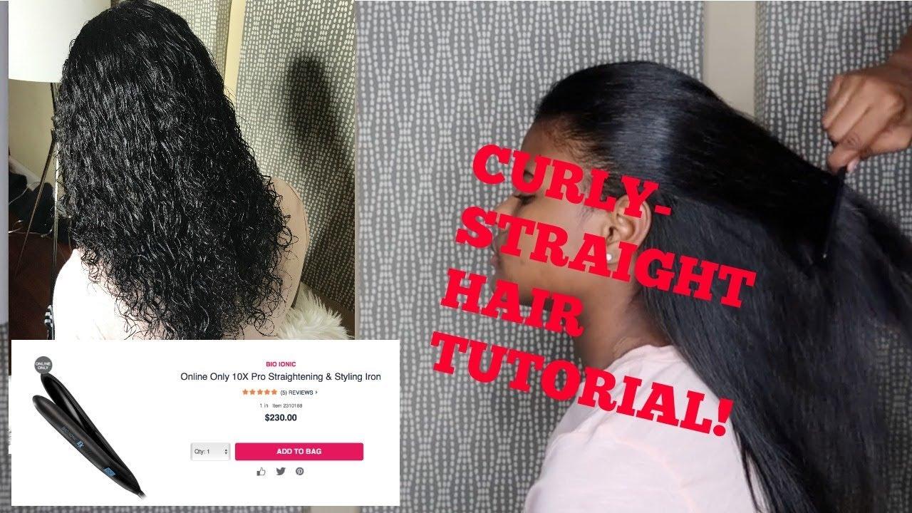 Bio Ionic 10x Straightener Review Curly Straight Hair Tutorial