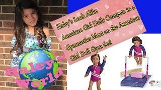 American Girl Dolls Compete in Gymnastics Meet on American Girl Gymnastics Set