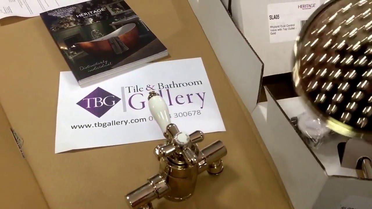 Heritage Glastonbury exposed thermostatic valve with rigid riser ...