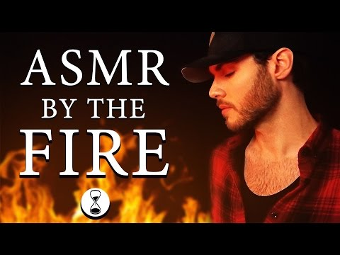 ASMR TINGLES BY THE FIRE ✰ Whispering ✰ Tapping ✰ Scratching ✰ Fire Sounds ✰ Wood Sounds